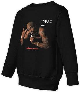 2Pac All Eyez On Me Children's Fashion Casual Cotton Round Neck Sweatshirt Black
