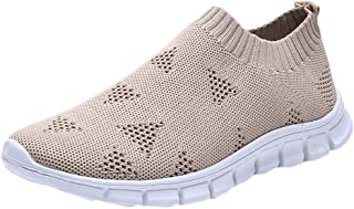 Womenss Mesh Breathable Leisure Shoes ❀ Ladies Fashion Solid Outdoor Flat Sport Sneakers Student Running Shoes