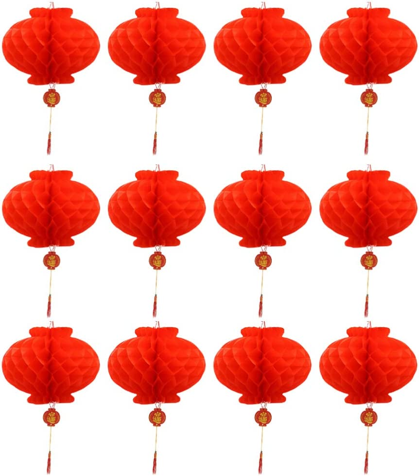 WINOMO Hanging Red Lanterns Classic Ornaments National uniform free shipping New Chinese Year Garlands