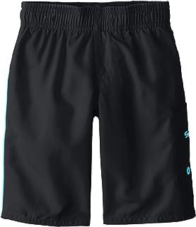Speedo Boys Kids Paintblast Allover Panel Swimming Swim Pool Aqua Shorts Black