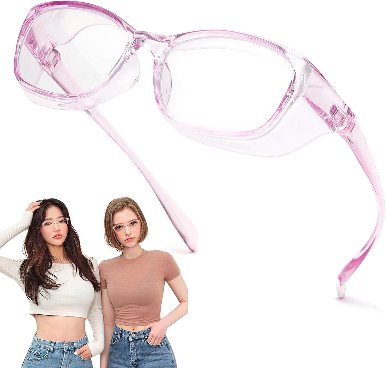 Jardin d'amour Gafas de seguridad, lentes con revestimiento antivaho y rayado, protectores laterales a prueba de viento