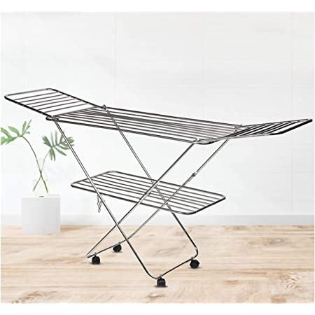 SYNERGY - Super Heavy Duty - Extra Large Stainless Steel Foldable Cloth Dryer/Clothes Drying Stand (SY-CS1.2)