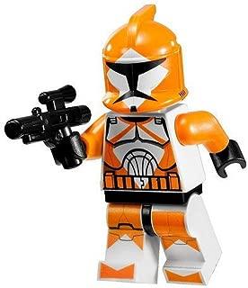 Star Wars Lego Minifigure - Orange Bomb Squad Trooper with Blaster Gun (7913)
