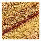WDSHB Imitación De Cuero Cuero Material de Tela PVC Tela De Sintética para Bolsos, Zapatos, Reparaciones, Decoraciones (Size:138cm*4m,Color:Amarillo)