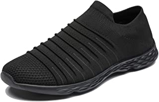 Anbenser Mens Lightweight Running Shoes Arch Support Removable Sockliner Outdoor Athletic Walking