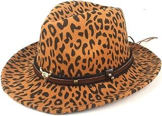 Fedora Cap Men Women Woolen Hat Fedora Hat Wool Polyester Elegant Gentleman Lady Autumn Winter Wide Side Church Panama Jazz Hat Felt hat (Color : Yellow, Size : 56-58cm)