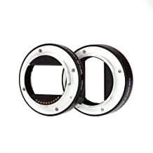 Andoer reg  Aluminum Alloy Macro Auto Focus Extension Tube 10mm 16mm Set Ring Metal Mount for Sony E-mout NEX NEX-6 A3000 A7R A7S Full Frame