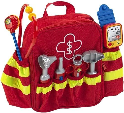 Klein 4314 Sac à dos d'urgentiste | Avec stéthoscope, seringue et beaucoup d'autres accessoires | Tensiomètre électro...