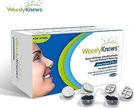 WoodyKnows Filtros Nasales 3 en 1, Combina Defensa Súper, Ultra Filtros Nasales Respirables que Reduce Gas y Artículos Contaminantes, Alivia el Polen, Alergia al Polvo y Otras Alergias