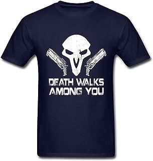 Mr.Potato 2016 Retro Overwatch Death Walks Among You Male T-Shirts