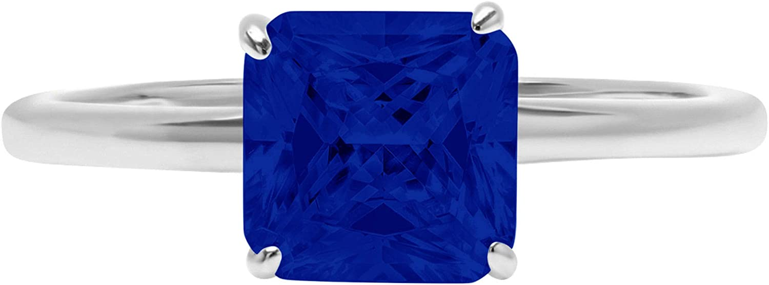 2.1 ct Brilliant Mail order cheap Asscher Cut Solitaire Simulat Safety and trust Stunning Flawless