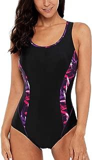 Women's Sport Pro One Piece Swimsuit Athletic Racerback Swimwear