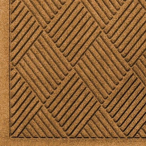 M+A Matting 221 Waterhog Fashion Diamond Polypropylene Fiber Entrance Indoor/Outdoor Floor Mat, SBR Rubber Backing, 3' Length x 2' Width, 3/8