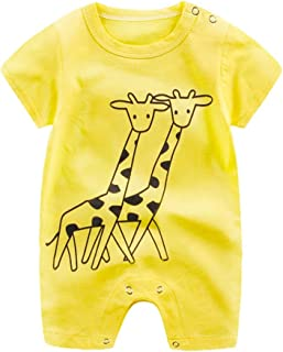 Vovotrade Newborn Infant Baby Boy Girl Cartoon Romper Cute Jumpsuit Climbing Clothes