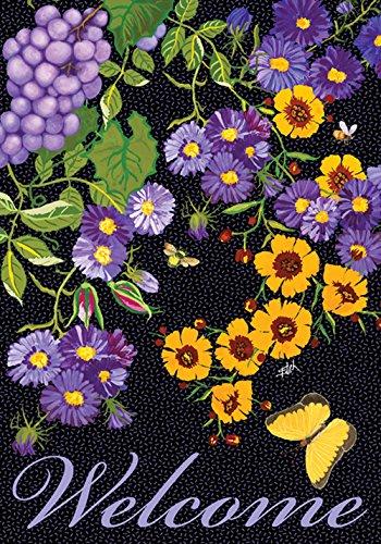 Toland Home Garden Papillon Vigne Jardin Drapeau House-L-28 x 40\