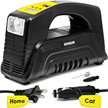 Kensun AC/DC Digital Tire Inflator for Car 12V DC and Home 110V AC Rapid Performance..