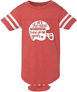 PressedUp It's The Most Wonderful TIme of The Year Football Unisex Infant Jersey Onesie | Cute & Stylish for Football Season