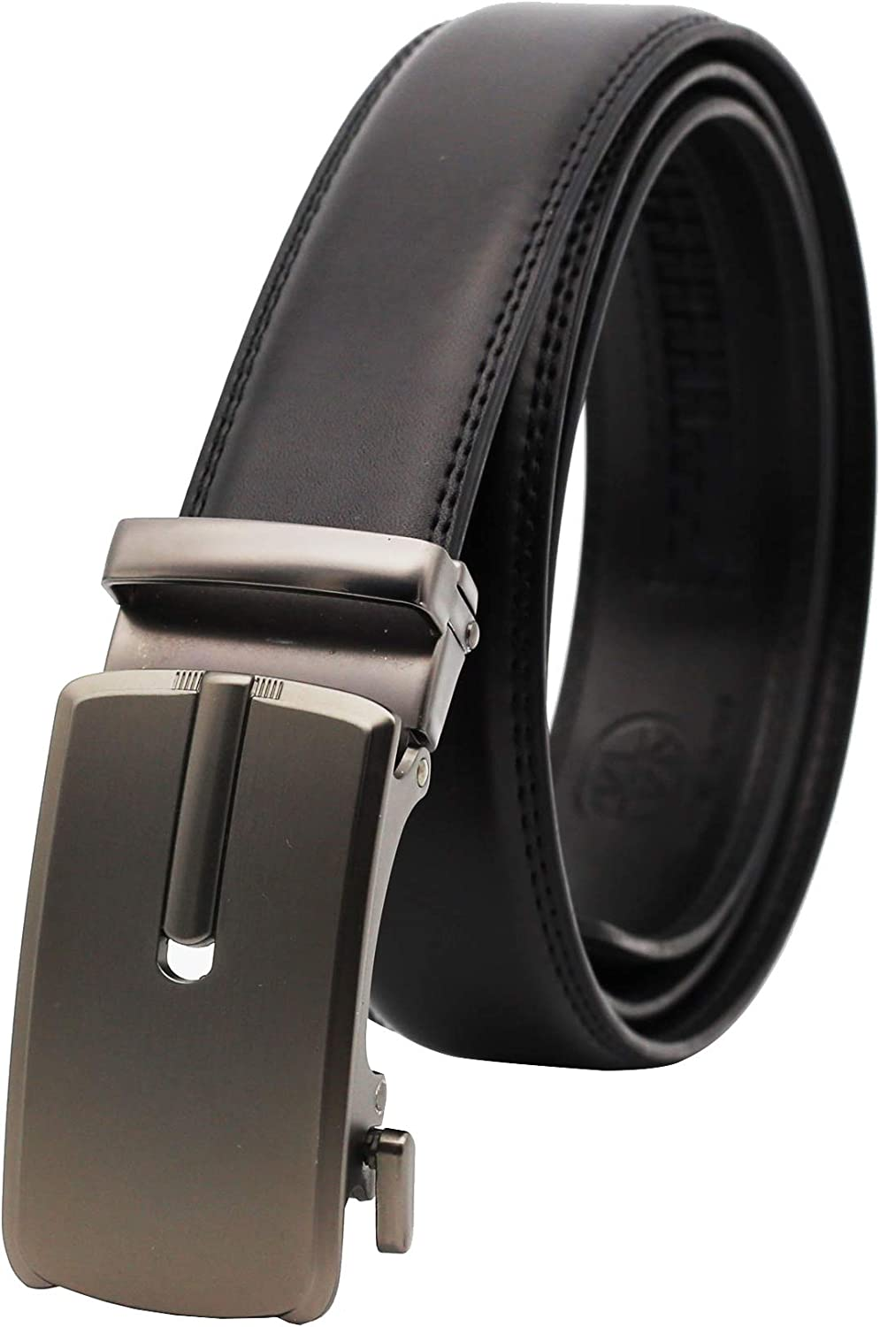 SENWA Men's 2021 new Genuine Leather Ratchet Regular store Automatic Belt Buckle with