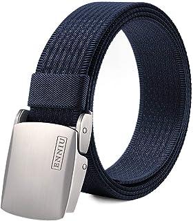 Fairwin Men's Military Tactical Web Belt, Nylon Canvas Webbing YKK Plastic/Metal Buckle Belt