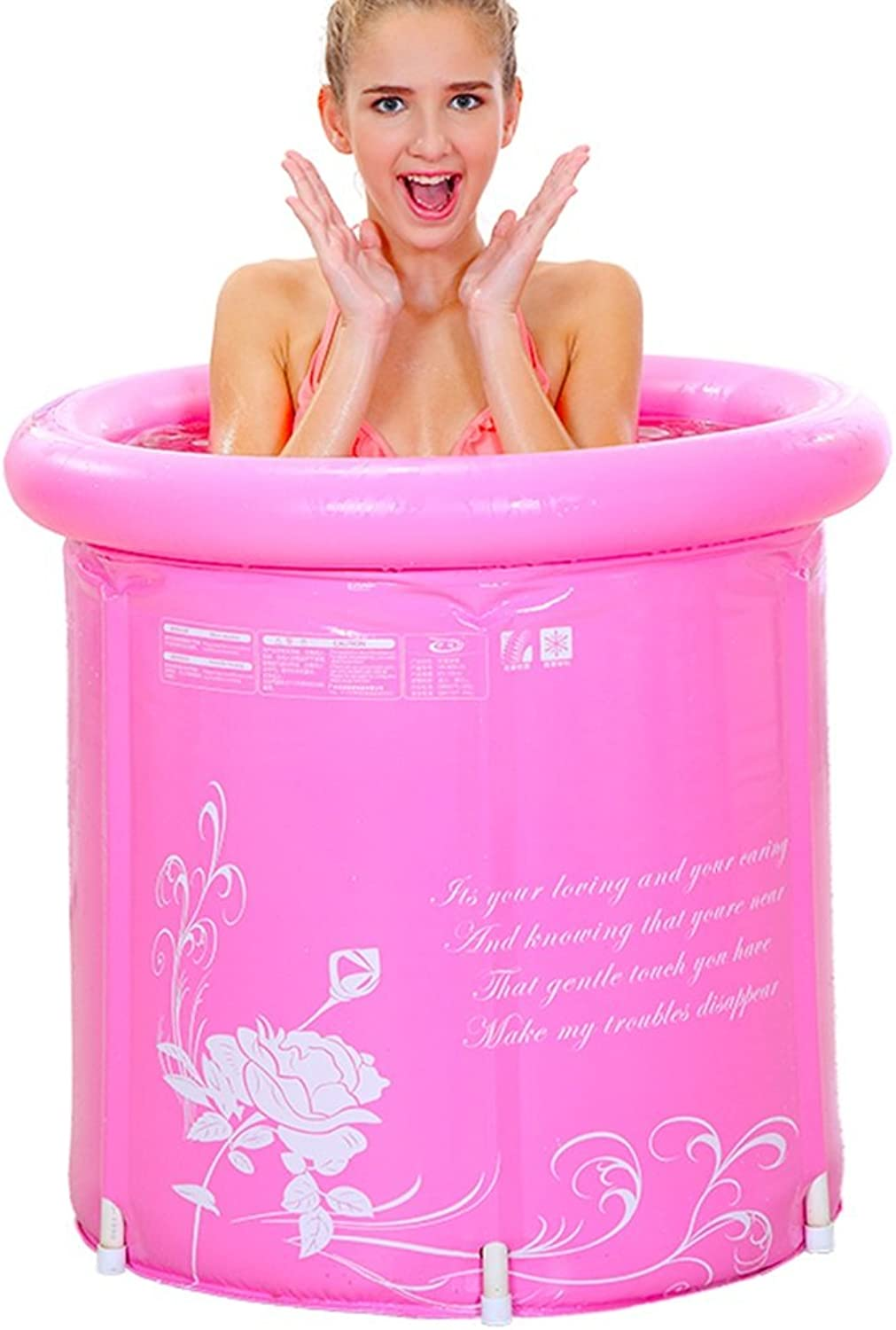 Meng Wei Shop Folding Inflatable Bathtub Adult Bath Inflatable Bathtub (Suitable for weight 75kg or less and height less than 180cm) (Size   7070cm)