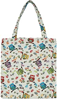 Owl Reusable Grocery Eco Friendly Shopping Tote Bag/Owl Book Bag by Signare Tapestry