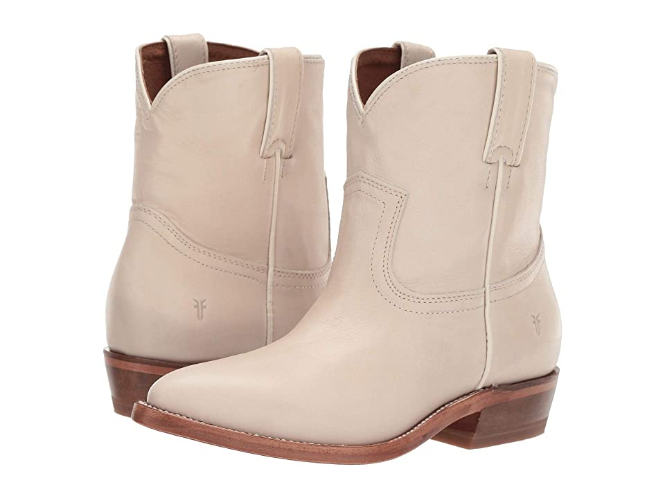 Frye Billy Short (Off-White Polished Soft Full Grain) Cowboy Boots