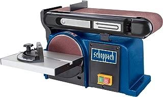 Scheppach 5903306901 Lijadora 3 discos y bandas abrasivas, 370 W, 240 V, 50 Hz, Azul