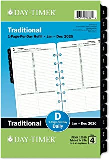 """Day-Timer 2020 Daily Planner Refill, 5-1/2"""" x 8-1/2"""