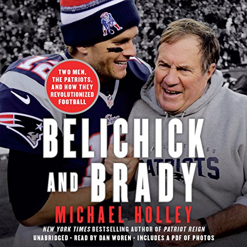 Belichick and Brady audiobook cover art