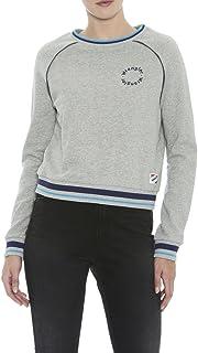 Wrangler Women's Southwest Crew Sweatshirt, Heather Grey