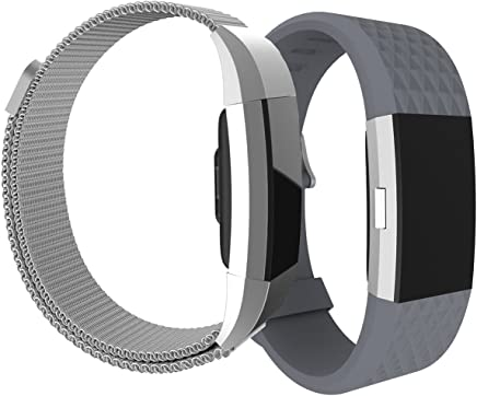 For Fitbit Charge 2 Fitness Wristbands,AIZBO Sport Wrist Straps Bands Adjustable Replacement SmartBand Watchband with Extra Security Clasp for Fitbit Charge2,Small Large