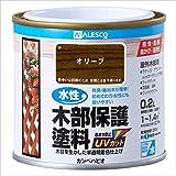 カンペハピオ 水性木部保護塗料 0.2L オリーブ