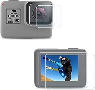 FitStill Gopro Hero 7 White & Silver に適用強化ガラスフィルムセット アンチスクラッチ | 4個スクリーンプロテクター