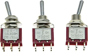 SALECOM 3x DPDT 3 Position ON OFF ON Guitar Mini Toggle Switch Car/Boat Switches