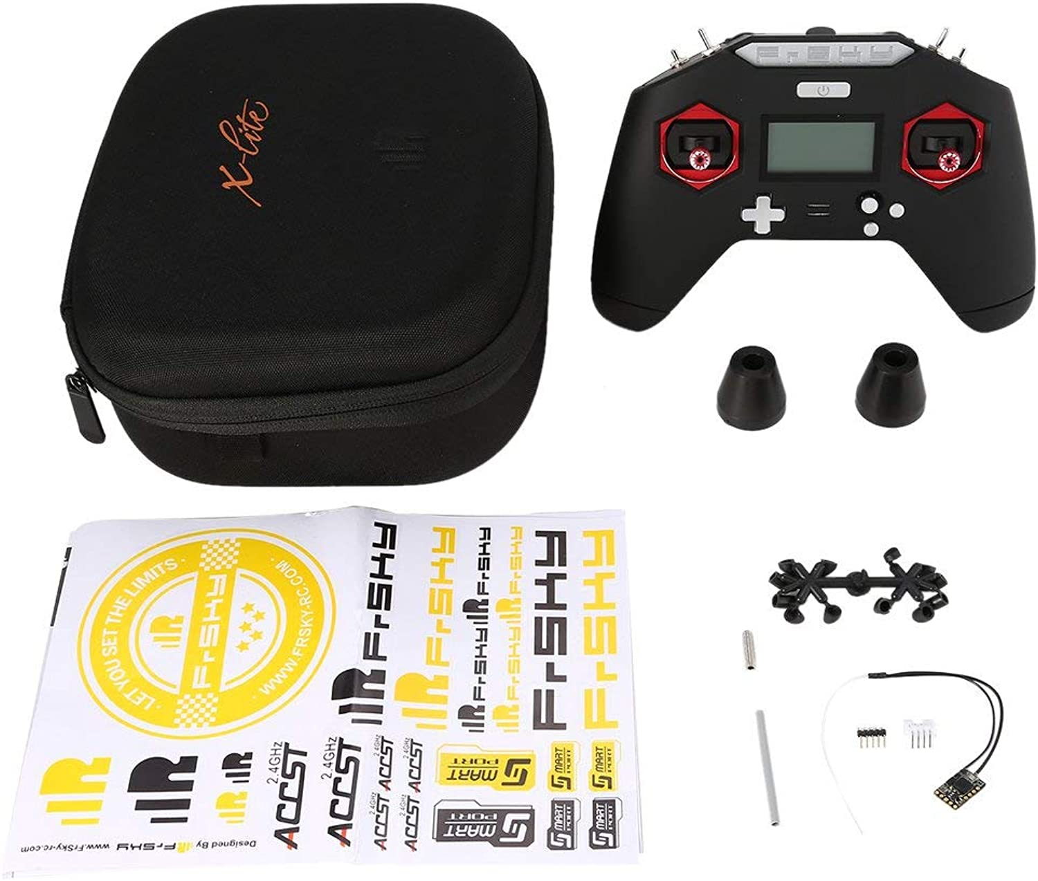 MqbY FrSky Taranis X-LITE 2.4GHz ACCST 16CH RC Transmitter Remote Controller W  R9 MM Receiver for RC Racing Drone Models