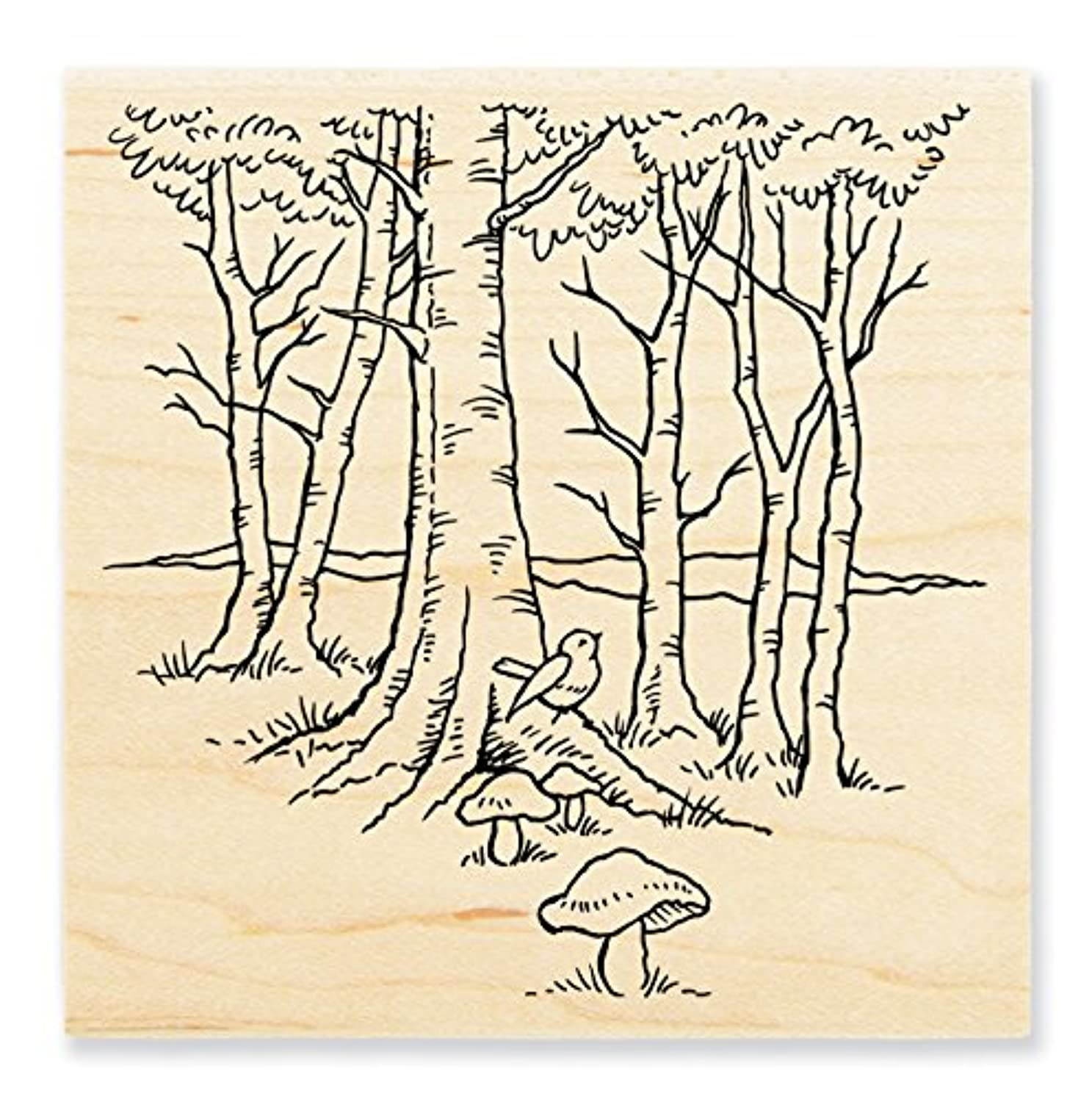 STAMPENDOUS Rubber Stamp Robin Woods