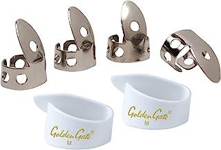 National NP1-7W Thumb & Finger Pick Pack - Stainless Steel/White - Medium