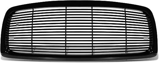 For 02-05 Dodge Ram ABS Plastic Billet Front Bumper Grille (Black) - 3rd Gen DR DH D1 DC DM