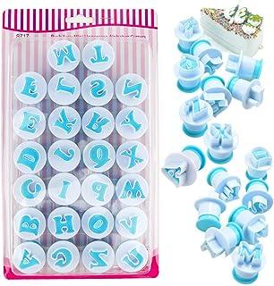 AODOOR Emporte Piece Alphabet, Alphabet Fondant Cutter Moule à Gâteau, Emporte-pièce Alphabet pour Décoration Pâte à Sucr...