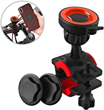 Bike Phone Mount, Detachable Bike Phone Holder with Adjustable 360° Rotation Handlebars Clamp Motorcycle Phone Mount for Bicycle Universal for iPhone 11 Pro Max Xr Xs X 8 Plus, Galaxy, Google Pixel