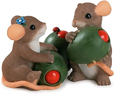 """Charming Tales Mice with Olives Figurine 2.25"""""""