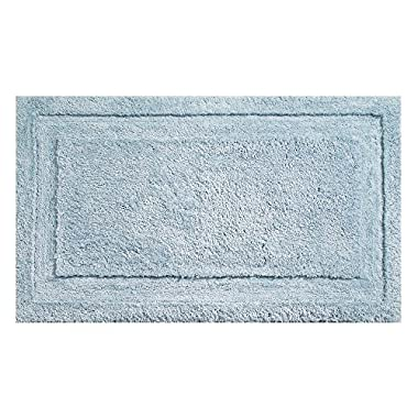 "InterDesign Microfiber Spa Bathroom Accent Rug, 34"" x 21  Inches, Water"