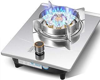 Placa de gas Olla De sobremesa / Embedded individual Cocina de gas estufa, 7.0kW Nueve cavidad fuego feroz anillo del quemador, con el control y anillos del acero inoxidable Placa de cocción de temper