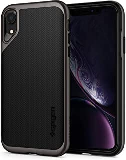 Spigen iphone XR Case, Flexible Black TPU Hard Gray PC Frame
