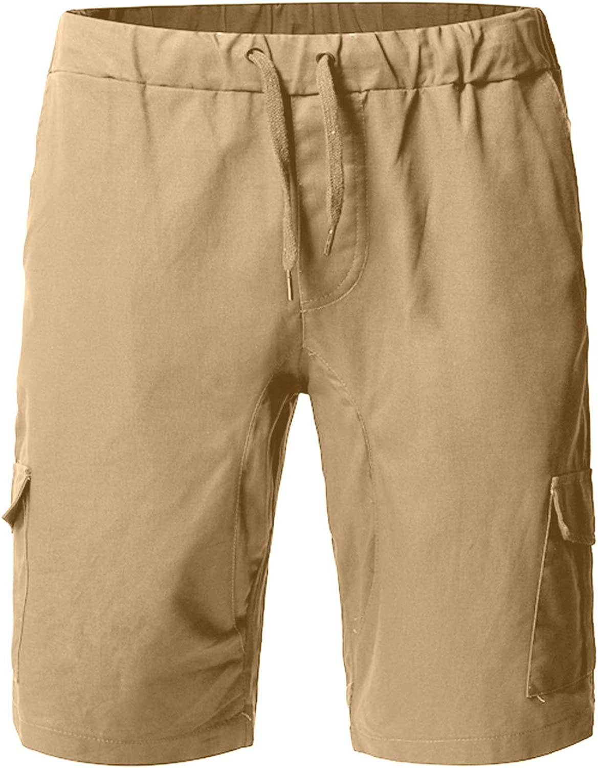 CLEEYYS Shorts for Men with Pockets Mens Shorts Elastic Waist with Drawstring Casual Summer Slim Fit