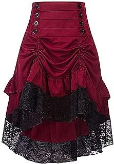 Ku-lee Vestido de Mujer con Falda Baja, Estilo Victoriano gótico
