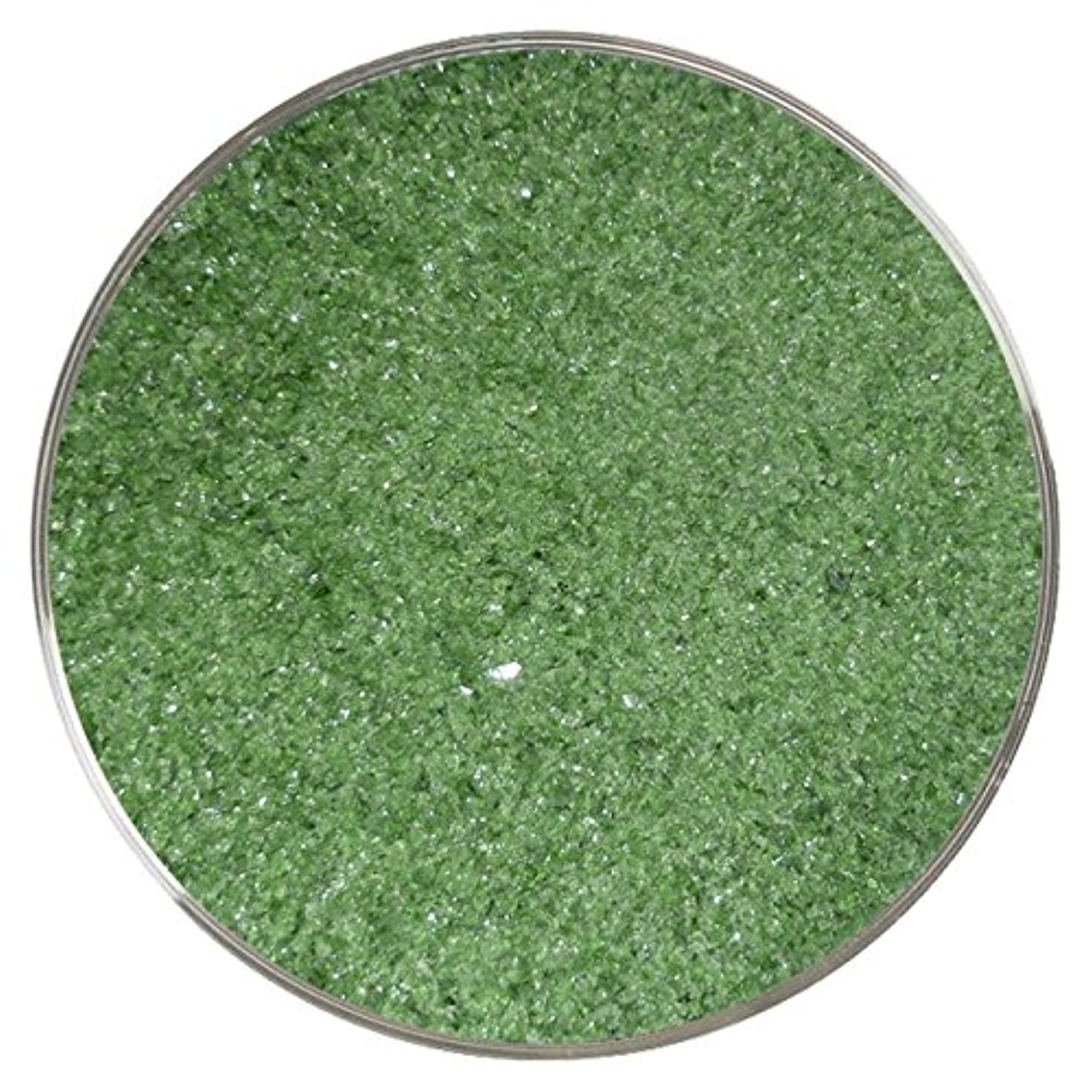 Dark Green Transparent Fine Frit - 96COE - 4oz - Made from System 96 Glass