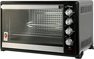 Super General 100 Liter Stainless Steel Electric Oven, Rotisserie-Grill, Convection-Oven, Thermostat, Timer, SGEO-100-TRC,...