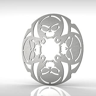 Ferreus Industries Skull Rear Brake Disc Rotor Stainless Steel fits: 90-06 Yamaha Banshee YFZ350 ROT-103-08-a