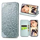 Easyshow Brieftasche Hülle Kompatibel mit Samsung Galaxy A32 4G, Faltbare Leder Handyhülle, Flip Wallet Schutzhülle für Samsung Galaxy A32 4G-Grau